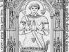 Stained glass window of young Geoffrey de Charney, Lirey, France