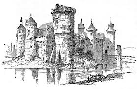 old castle drawing